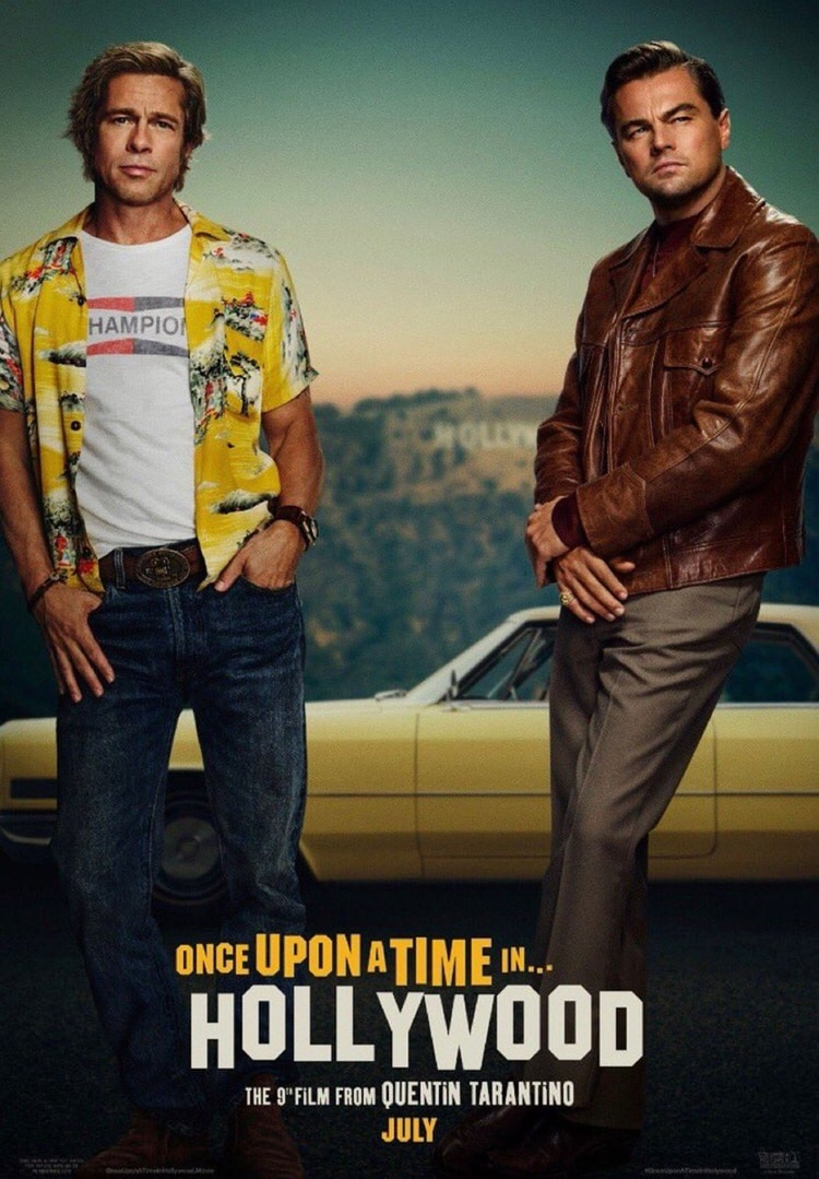 "El afiche de ""Once Upon a Time in Hollywood"" que se estrena el 26 de julio en los Estados Unidos"