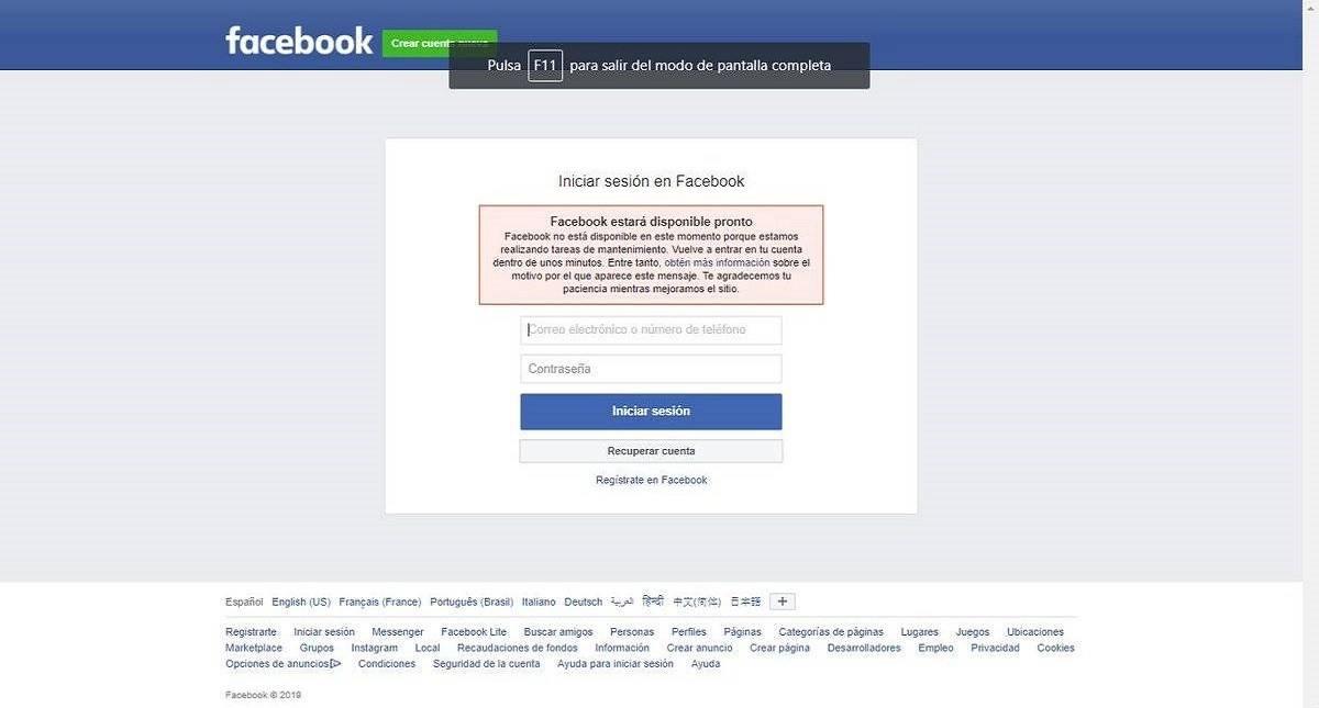 Entrar a Facebook. Foto de fayerwayer