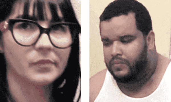 Janelys Delgado y Fernando Hilario Figueroa fueron apresados por las autoridades dominicanas.