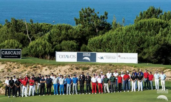 Grupo de jugadores participantes en la edición 2018 del World Corporate Golf Challenge celebrada en Cascais, Portugal.