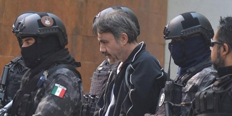 """""""El Licenciado"""" durante su traslado al penal de Ciudad Juárez, en Chihuahua."""