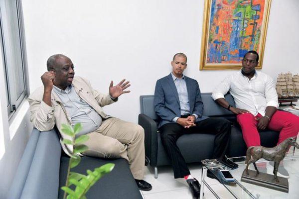 Gerardo Suero Correa habla de la situación del atletismo en la República Dominicana, en el Café Deportivo de EL DEPORTE de Listín Diario, acompañado Félix Sánchez y Yasem Pérez.