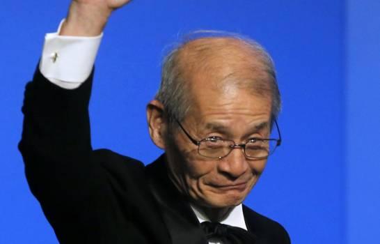El químico japonés Akira Yoshino durante una intervención en la ceremonia de premiación del Global Energy Prize en San Petersburgo, Rusia